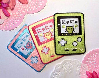Iron On Cat Video Game Patches