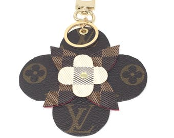 Repurposed/Uocycled Louis Vuitton Clover Bag Charm/Key Holder