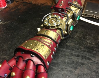 Steampunk Gauntlet bracer glove