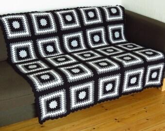 Black and Grey Blanket Grey Throw Blanket Black Blanket Black Throw Blanket Black Throw Grey Throw Grey Sofa Throw SAVE 30% & FREE SHIPPING