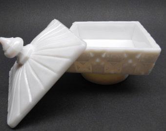 Vintage Milk Glass Candy  Dish