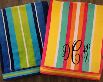 Personalized Beach Towel-Oversized Beach Towel-Monogrammed Beach Towel