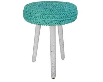 Handmade stool / ottoman / pouf