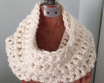 Chunky Cowl-Beige Cowl-Off White Cowl