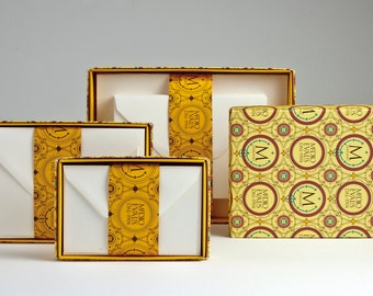 "Medioevalis - Set of 20 Single Cards & Envelope Stationery Box -4.5"" x 6.7"" Flat"