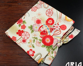 TRIFOLD WRAP: Tri-fold Tool, Bead and Jewelry Wrap - Handmade by Kan Designs in Japanese Print Fabrics - (TWM-037)