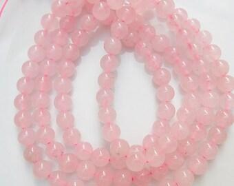 6mm Pink quartz  round beads ,  Rose quartz , full strand