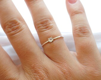 Promise Ring: Sterling Silver Opal Ring, Presents for Girlfriends