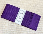 Dark purple mens obi belt...