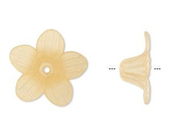 50pcs Large Trumpet Lily Frosted Lucite Flower Orange Beads Acrylic 24x10mm Iced For Lucite Flowers Earrings
