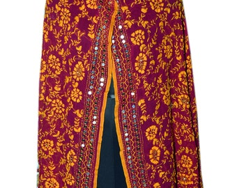 Phulkari scarf/phulkari dupatta/ chiffon dupatta/ scarf/ large scarf/ yellow scarf/ gift scarf 063