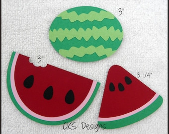 Die Cut Watermelon Scrapbook Page Embellishments for Card Making Scrapbook or Paper Crafts