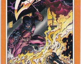 Vintage Grips Comic Book Vol 1 No 4 1986 Silverwolf Comics - Kris Silver - Dark Assassin - Guillotine - Legion X-1 - Port - Fat Ninja