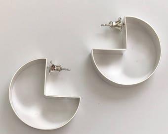 earrings pac man posts