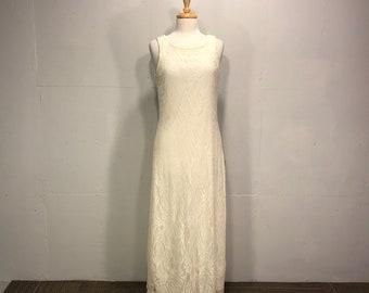 lace ivory maxi lace sleeveless dress opera jacket lace shrug Harlo Nights  wedding dress formal summer gown shimmer