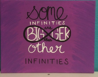 Some infinities are bigger than other infinities quote canvas