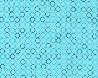 Spot On Aqua by Robert Kaufman, Aqua Polka Dots, Polka Dots Fabric, Robert Kaufman
