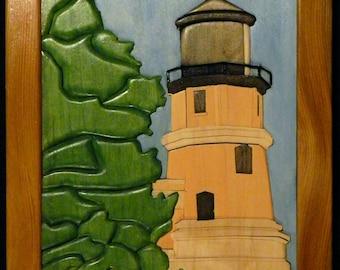 Splitrock Lighthouse Intarsia