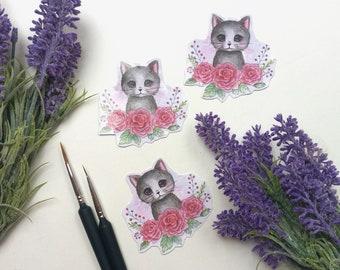 Rose kitten sticker