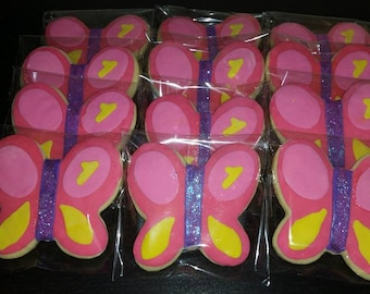 Butterfly cookies ,12 (one dozen)