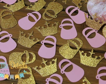 Princess Baby Shower Table Confetti.  Baby Shower Confetti.  Little Princess Baby Shower. Princess Confetti.