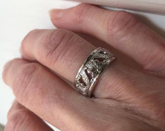 Decorative sterling band. Size 6 3/4, #310