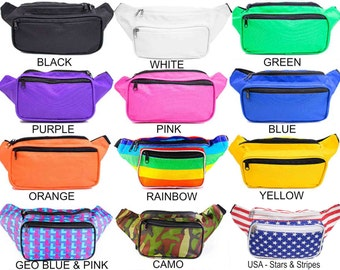 Fanny Pack Colorful with Unique Designs by SoJourner Bags (multiple colors & variations) **FREE SHIPPING*