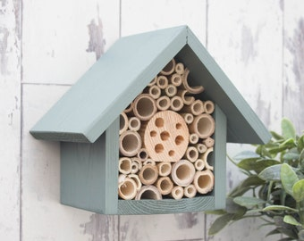 Mason Bee House and Insect Home, One Tier, in 'Wild Thyme' Can be personalised.