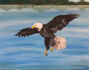 "20"" x 20"" Bald Eagle on Canvas"