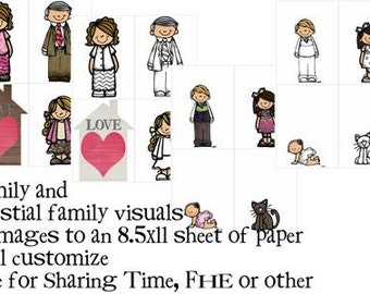 Family and Celestial or temple family for Sharing Time, FHE or other - will customize