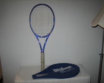 Vintage Wilson Tennis Racquet Wilson Graphite Aggressor 95 Tennis Racquet With Zippered Cover High Beam Series 43/8 L3