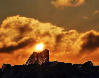 Mounted Sunshine on Lake Superior, Duluth, MN