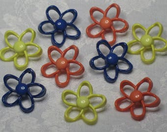 Adorable Vintage Large Flower Buttons for Your Art, Craft, and Sewing Projects