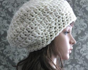Crochet PATTERN - Crochet Slouchy Hat Pattern - Crochet Patterns for Women - Crochet Hat Pattern - PDF 235 - Includes 3 Sizes Baby to Adult