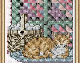 Cross Stitch Kit - Appalchian Cat