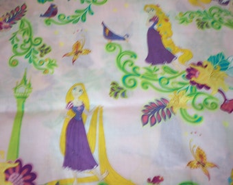 """Rapunzel Fabric """"Let Down Your Hair"""" By The Fat Quarter New BTFQ"""