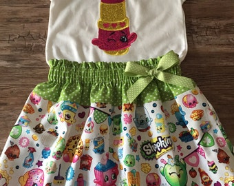 Shopkins Outfit, Shopkins Lipstick Outfit, Shopkins Birthday Outfit, Shopkins Skirt, Shopkins Lipstick Shirt,