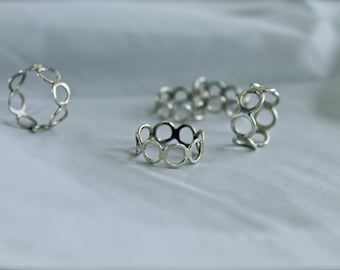 Circles Ring Sterling silver comfortable minimalist band open work