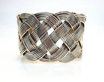 Sterling Silver Braid Cuff Bracelet # 253637999770