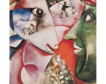 Marc Chagall I And My Village 22 x 28 print poster