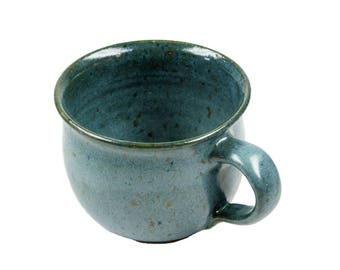Ceramic Cup small bulbous green