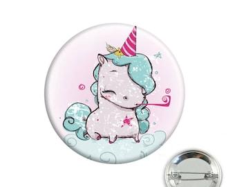 Badge Unicorn party
