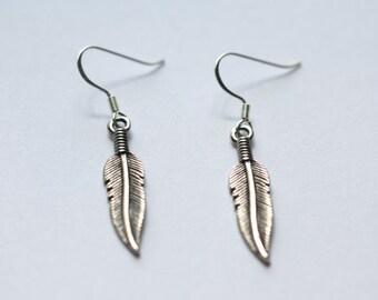 Silver Feather Earrings - feather earrings - silver feathers- feather jewelry - southwestern jewelry - south western jewelry