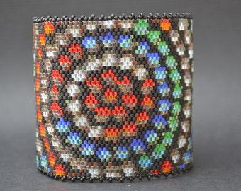 Peyote Bracelet, Peyote Cuff, Seed Bead Bracelet, Beaded Bracelet, Bracelet, Cuff, Handmade
