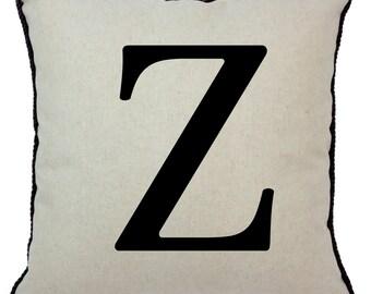 Alphabet Pillow Z