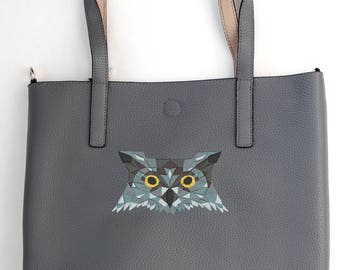 Owl tote bag Embroidered tote bag Personalized tote bag Monogrammed tote bag Scripture Tote Bag Custom design Gift for her wildlife Bible