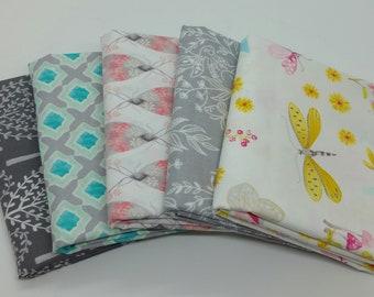 FINAL FRIDAY SALE - 5 Half-Yard Bundle of Nature Walk Fabrics from Michael Miller by Tamara Kate - 2.5 Yards Total