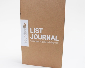 Abundant Life List Journal | List Journal | Journal with Prompts