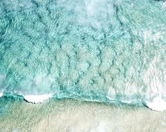 Digital Beach Print - Waikiki Beach, Hawaii