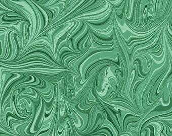 Circle Play - 10066-45 - Marble Tonal Dark Jade - by Ann Lauer of Grizzly Gulch Gallery for Benartex